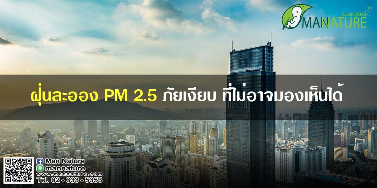 ฝุ่นละออง PM 2.5 ภัยเงียบ ที่ไม่อาจมองเห็นได้
