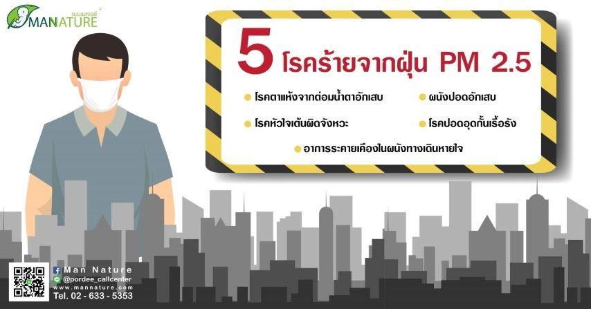 5 โรคร้ายจากฝุ่น PM 2.5