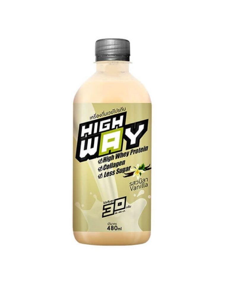 เครื่องดื่มไฮเวย์ นมเวย์โปรตีน คอนเซนเทรด ผสมคอลลาเจน รสวานิลา